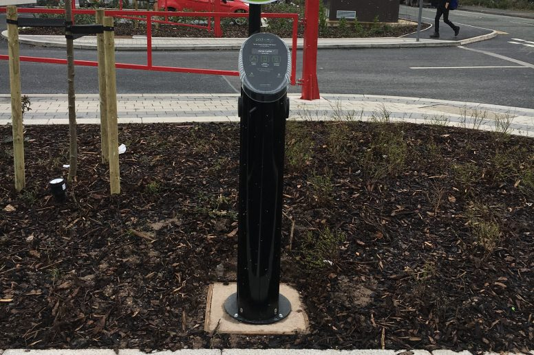 Gallagher Park EV pillar
